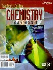 Cover of: Chemistry for Christian Schools Set | Heather E. Cox