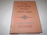 Cover of: Crisis in English poetry, 1880-1940