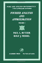 Cover of: Fourier analysis and approximation
