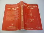 Cover of: Marx and Engels on law