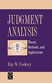 Cover of: Judgement analysis | Ray W. Cooksey