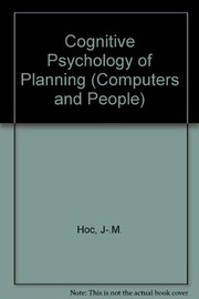 Cover of: Cognitive psychology of planning | Jean-Michel Hoc