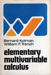 Cover of: Elementary multivariable calculus