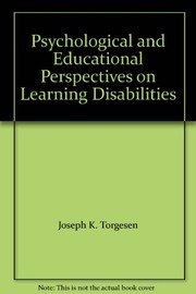 Cover of: Psychological and educational perspectives on learning disabilities |