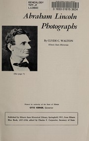 Cover of: Abraham Lincoln photographs