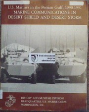 Cover of: Marine communications in Desert Shield and Desert Storm | John T. Quinn