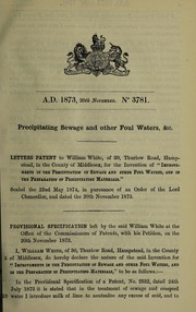 Cover of: Specification of William White | William White