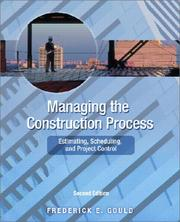 Cover of: Managing the Construction Process