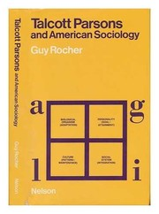 Cover of: Talcott Parsons and American sociology | Guy Rocher