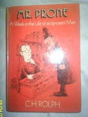 Cover of: Mr. Prone | C. H. Rolph