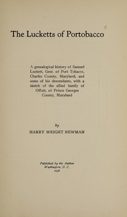 Cover of: The Lucketts of Portobacco | Harry Wright Newman