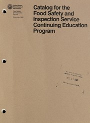 Cover of: Catalog for the Food Safety and Inspection Service continuing education program. |