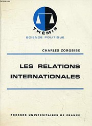Cover of: Les relations internationales