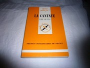 Cover of: La cantate