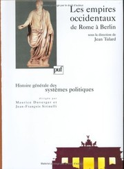 Cover of: Les Empires occidentaux de Rome à Berlin