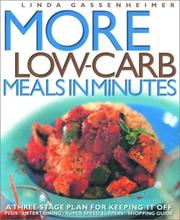 Cover of: More low-carb meals in minutes: a three-stage plan for keeping it off