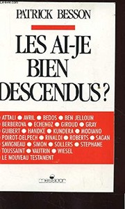 Cover of: Les ai-je bien descendus? | Besson, Patrick