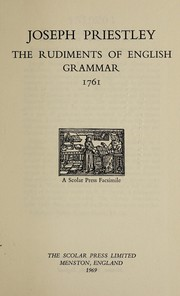 Cover of: The rudiments of English grammar, 1761