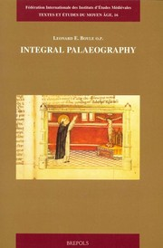 Cover of: Integral palaeography