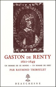 Cover of: Gaston de Renty