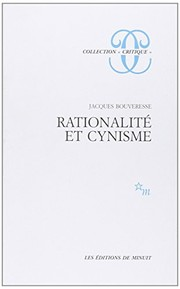 Cover of: Rationalité et cynisme