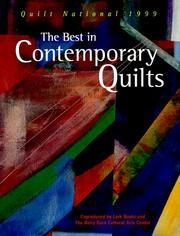 Cover of: The best in contemporary quilts