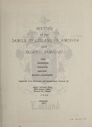 Cover of: History of the family of Lofland in America and related families