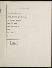 Cover of: Some descendants of John Keand of Whithorn, Scotland