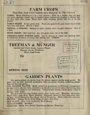 Cover of: Treeman & Munger, garden and fields seeds, garden plants, nursery stock, fertilizers, black gold feeds | Treeman & Munger (Firm)