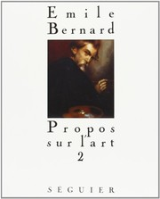 Cover of: Propos sur l'art