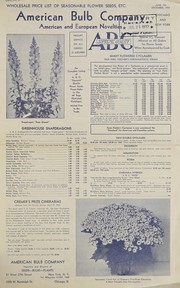 Cover of: Wholesale price list of seasonable flower seeds, etc | American Bulb Company