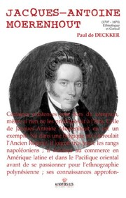 Cover of: Jacques-Antoine Moerenhout (1797-1879)