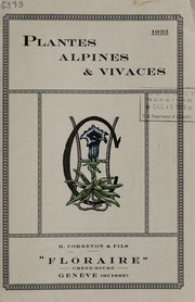 Cover of: Plantes alpines & vivaces, 1933 | H. Correvon & Fils