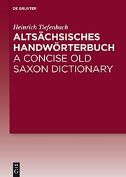 Cover of: Altsächsisches Handwörterbuch / A Concise Old Saxon Dictionary (German Edition)