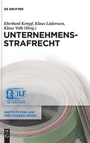 Cover of: Unternehmensstrafrecht (Institute for Law and Finance) (German Edition)