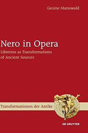 Cover of: Nero in Opera (Transformationen Der Antike)