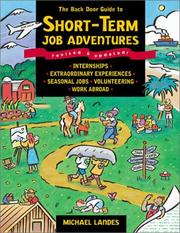 Cover of: The back door guide to short-term job adventures