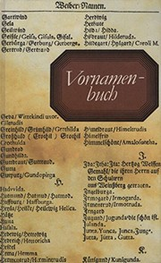 Cover of: Vornamenbuch
