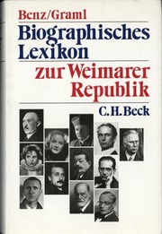 Cover of: Biographisches Lexikon zur Weimarer Republik (German Edition)