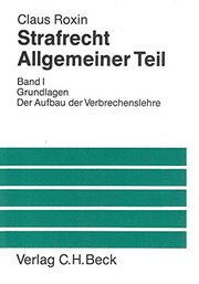Cover of: Strafrecht