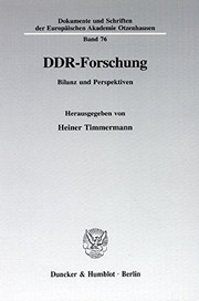 Cover of: DDR-Forschung