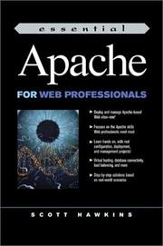 Cover of: Essential Apache for Web Professionals | Scott Hawkins