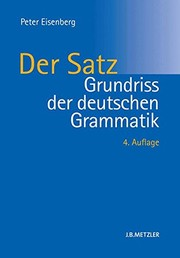 Cover of: Grundriss der deutschen Grammatik: Band 2: Der Satz (German Edition)