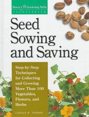 Cover of: Seed sowing and saving | Carole B. Turner