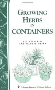 Cover of: Growing herbs in containers