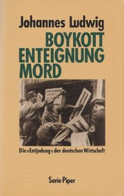 Cover of: Boykott Enteignung Mord