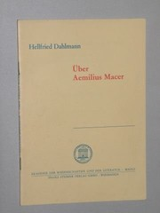 Cover of: Über Aemilius Macer