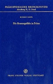 Cover of: Die Bronzegefässe in Polen