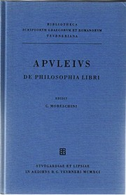 Cover of: De philosophia libri