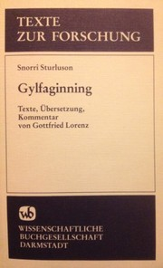 Cover of: Gylfaginning (Texte zur Forschung) (German Edition)
